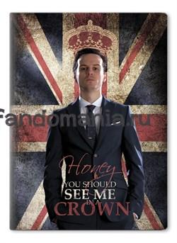 """Обложка на паспорт виниловая """"Джим Мориарти"""" (Шерлок) - фото 6698"""