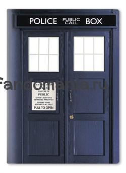 "Обложка на паспорт виниловая ""Тардис, Police Box"" (Доктор Кто) - фото 6716"