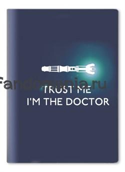 """Обложка на паспорт виниловая """"Trust me..."""" (Доктор Кто) - фото 6718"""