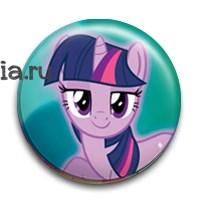 """Значок """"Сумеречная Искорка"""" (my Little Pony) - фото 6820"""