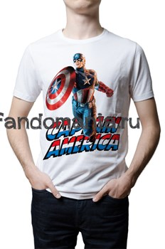 "Футболка ""Captain America"" (Капитан Америка) - фото 6871"