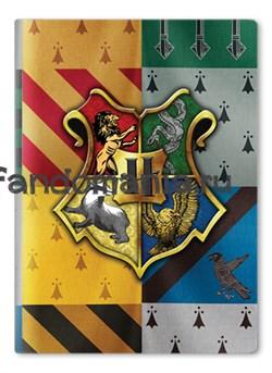 "Обложка на паспорт виниловая ""Хогвартс"" (Гарри Поттер) - фото 6947"