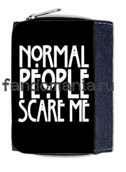 """Кошелек """"Normal people scare me"""" (Американская история ужасов) - фото 7237"""