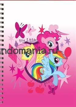 "Блокнот ""My little pony"" розовый - фото 7315"