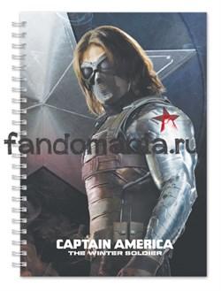 "Блокнот ""Баки. Зимний солдат"" (Капитан Америка) Marvel - фото 7362"