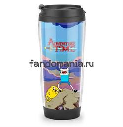 """Термостакан """"Adventure Time"""" (Время приключений) - фото 7410"""