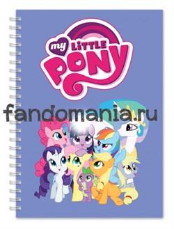 "Блокнот ""My little pony"" голубой - фото 7673"