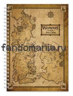 """Блокнот """"Карта Вестероса"""" (Игра престолов) - фото 7674"""