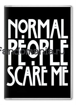 """Обложка на паспорт """"Normal people scare me"""" (Американская история ужасов) - фото 7694"""