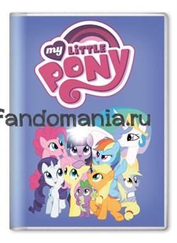 """Обложка на паспорт """"My little pony"""" Голубая - фото 7698"""