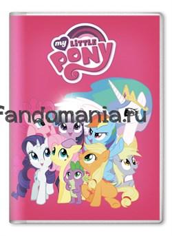 """Обложка на паспорт """"My little pony"""" Розовая - фото 7700"""