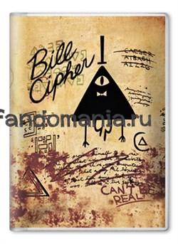 """Обложка на паспорт """"Билл Сайфер"""" (Гравити Фолз) - фото 7815"""