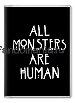 "Обложка на паспорт ""All Monsters Are Human"" (Американская история ужасов) - фото 7840"