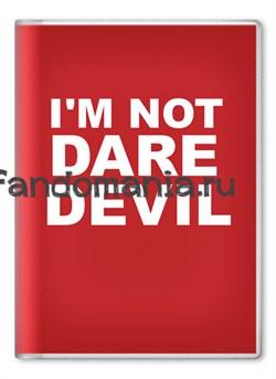 """Обложка на паспорт """"I'm not daredevil"""" (Daredevil) - фото 7922"""
