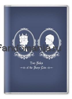 """Обложка на паспорт """"Две стороны одной монеты"""" (Мерлин) - фото 7984"""