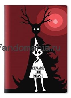 "Обложка на паспорт виниловая ""Beware the beast"" (По ту сторону изгороди) - фото 8463"