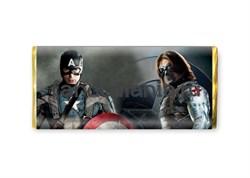 """Шоколадная плитка """"Капитан и Баки"""" (Капитан Америка) - фото 8515"""