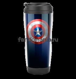 """Термостакан """"Щит"""" (Капитан Америка) - фото 8615"""