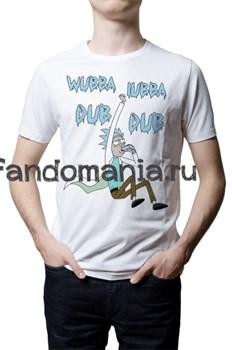 "Футболка ""Wubba Lubba Dub Dub"" (Рик и Морти) - фото 9311"