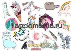 Набор стикеров Unicorn A4