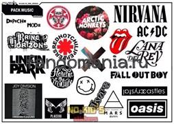 Набор стикеров Музыка   A4