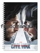 "Блокнот ""Капитан Америка и Зимний солдат"" Marvel"