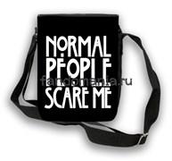 """Сумка с клапаном """"Normal people scare me"""" (Американская история ужасов)"""