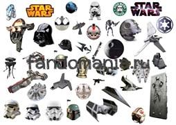 """Набор стикеров """"Звездные войны"""" А4"""