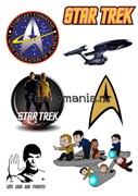"Набор стикеров ""Star Trek"" (Стар Трек)"