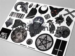 Набор стикеров BLACK А4