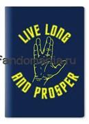 "Обложка на паспорт виниловая ""Live Long...""  (Стар Трек)"