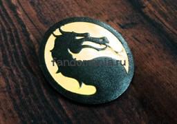 """Кожаный значок """"Mortal Kombat"""""""