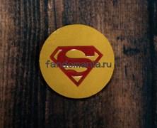 """Кожаный значок """"Superman"""""""