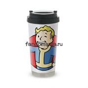 """Термокружка стальная """"Vault Boy 2"""" (Fallout)"""