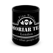 """Большая черная кружка """"Moriar Tea"""" (Шерлок)"""