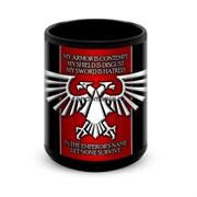 """Большая черная кружка """"Империя"""" (Warhammer 40000)"""