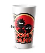 """Кружка конусная """"Don't panic"""" (Рик и Морти)"""