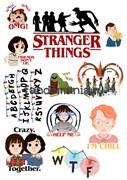 """Набор стикеров """"Очень странные дела"""" (Stranger Things)"""