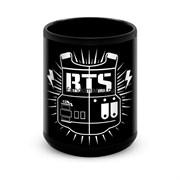 """Большая черная кружка """"BTS"""" (K-pop)"""