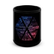 """Большая черная кружка """"EXO"""" (K-Pop)"""