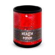 """Большая черная кружка """"Зелье Жизни"""" (Health Potion)"""