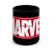 """Большая черная кружка """"Marvel"""""""