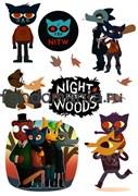 """Набор стикеров """"Ночь в лесах"""" (Night in the woods)"""