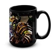 """Большая черная кружка """"Варкрафт"""" (Warcraft)"""