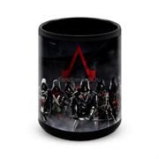 """Большая черная кружка """"Кредо Ассасина"""" (Assassin's Creed)"""