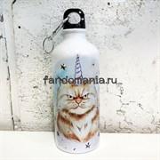 Кот единорог | Бутылка для воды