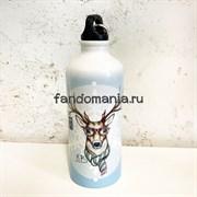 Олень в шарфе| Бутылка для воды