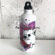 Ёжик на скейте | Бутылка для воды