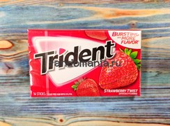 Жевательная резинка Trident Strawberry twist