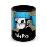 """Большая черная кружка """"Салли Фейс"""" (Sally Face)"""